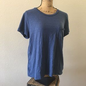 Madewell cotton crew neck tee w/ pocket XL